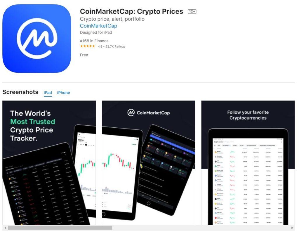 Мобильное приложение CoinMarketCap в App Store